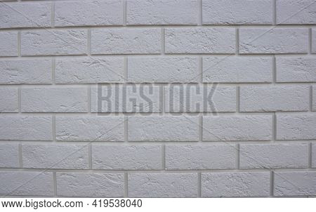 Abstract Texture , White Brick Wall Background, Rough Masonry Blocks, Architectural Wallpaper