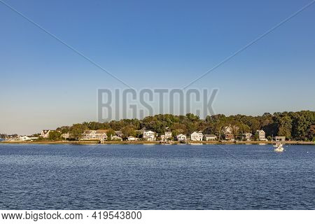 Island Of Weymouth In The Boston Area In Sunset