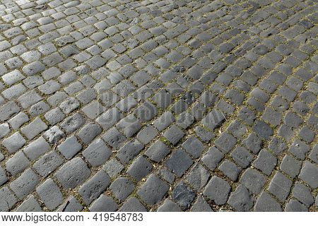 Harmonic Pattern Of Old Cobble Stone Street