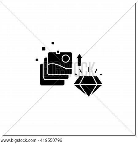 Digital Art Glyph Icon. Fine Digital Art Collection Evolution. Profitable Growth. High Quality Pictu