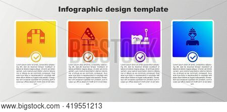 Set Winter Scarf, Road Sign Avalanches, Shovel Snowdrift And Athlete. Business Infographic Template.