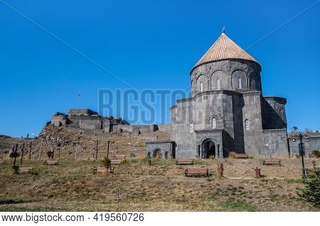 Kumbet Mosque In Kars, Turkey. Once It Was Armenian Cathedral Of All Saints. Former Church Built In
