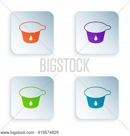 Color Yogurt Container Icon Isolated On White Background. Yogurt In Plastic Cup. Set Colorful Icons