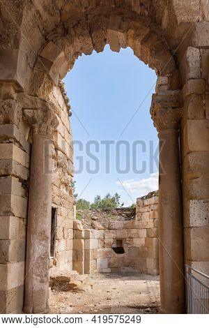 The Remains Of The Church Of St. Anne Of The Byzantine Period In The Ruins Of The Maresha City, At B