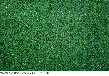 Green Plastic Protective Masking Net, Full Frame. Sun Shade For Objects, Gazebos And Buildings