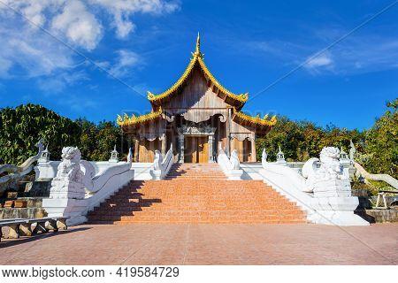 Huai Sai Khao Temple At Chiang Rai In Thailand.