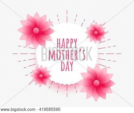 Happy Mothers Day Celebration Illustration Wallpaper Vector Template Design
