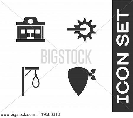 Set Cowboy Bandana, Wild West Saloon, Gallows And Spur Icon. Vector