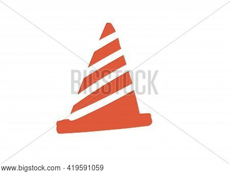 Traffic-cone. Handdrawn Simple Vector Illustration Element Simple And Cartoon Style