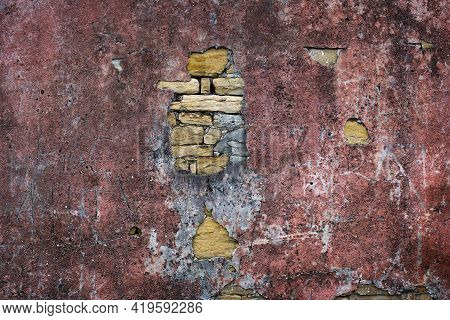 Grunge Background With Old Stucco Wall Texture Of Colourful Colours