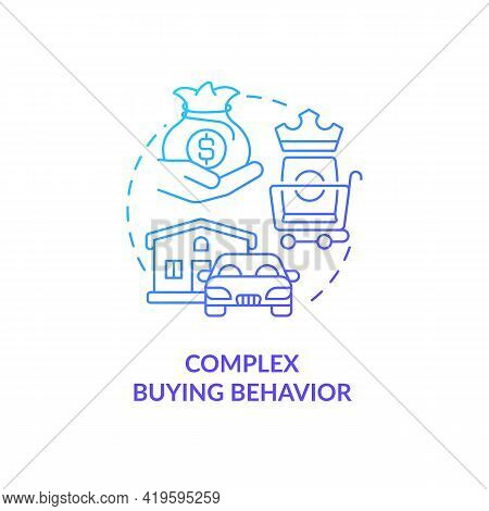 Complex Buying Behavior Concept Icon. Consultation With Friends, Family And Experts Idea Thin Line I