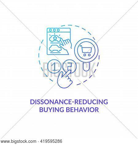 Dissonance-reducing Buying Behavior Concept Icon. Consumer Type Idea Thin Line Illustration. Little