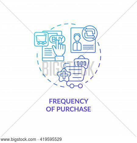 Purchase Frequency Concept Icon. Rfm Model Analysis Idea Thin Line Illustration. Evaluating Buyer En
