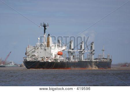 Departing Steamship
