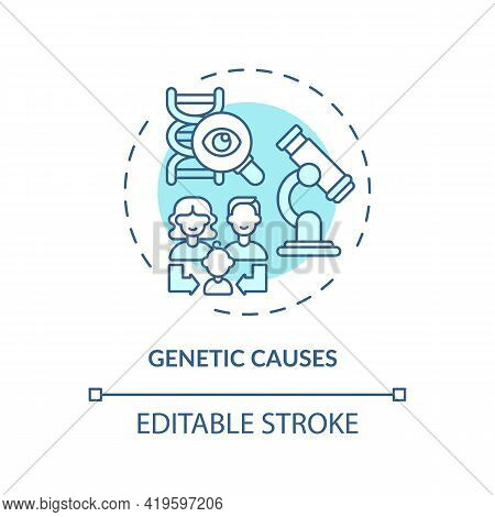 Genetic Causes Concept Icon. Hearing Loss Idea Thin Line Illustration. Inheritance. Family Generatio