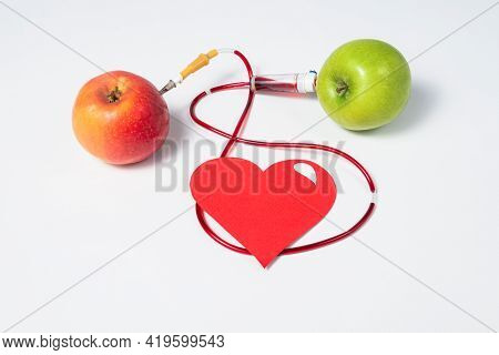 The Donor Shares His Blood With A Sick Person Or Recipient. The Mercy Of A Healthy Person. Donor Day