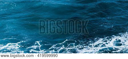 Ocean Waves As Coastal Background, Beach Holiday Destination And Luxury Travel Concept