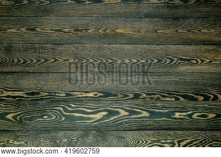 Dark Background Of Boards With Coarse Wooden Texture