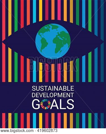 Cover. Sustainable Development Goals Colors. Vector Illustration Eps.