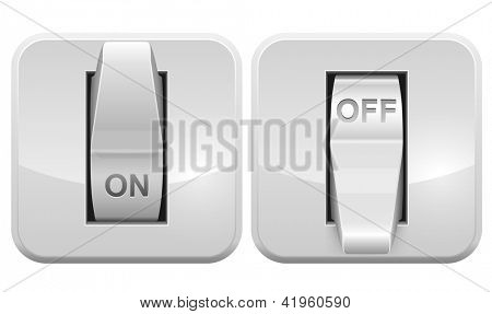 Electric switch web vector icon isolated on white background.