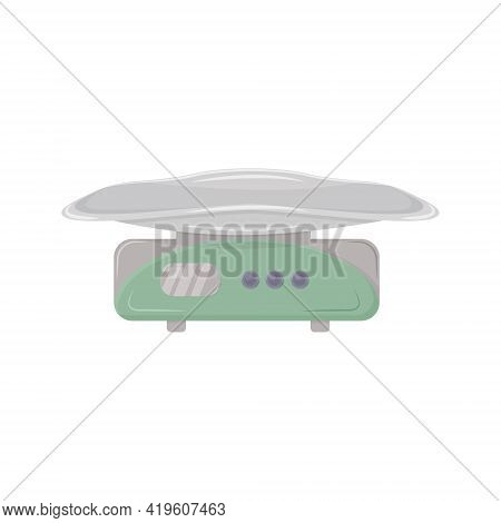 Medical Scales For Weighing Newborns And Young Children In Medical Institutions Vector Illustration