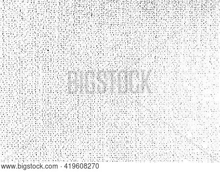 Distressed Overlay Texture Of Rough Surface, Textile, Woven Fabric. Grunge Background. One Color Gra