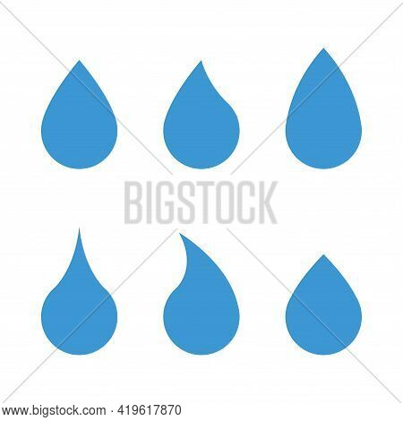 Water Droplet Icon. Simple Vector Illustration On A White Background.
