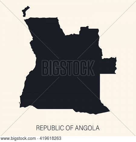 Highly Detailed Angola Map With Borders Isolated On Background. ..simple Flat Icon Illustration For