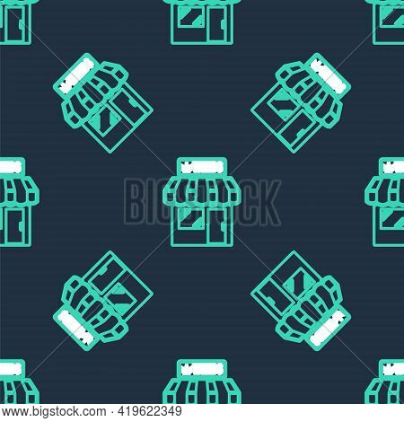 Line Marijuana And Cannabis Store Icon Isolated Seamless Pattern On Black Background. Equipment And