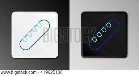Line French Baguette Bread Icon Isolated On Grey Background. Colorful Outline Concept. Vector