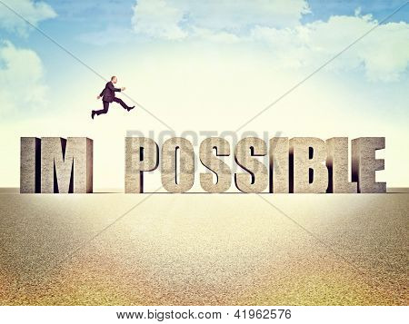 man jump over possible word poster