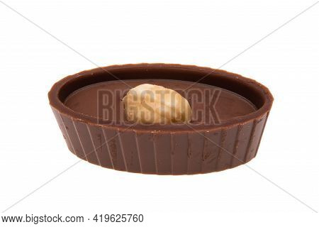 Chocolate Candy Confection Isolated On White Background