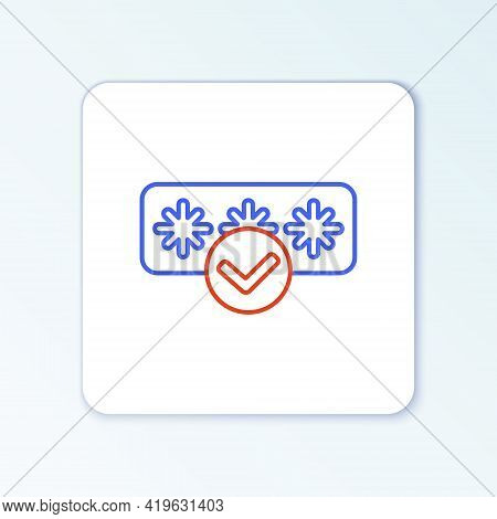 Line Password Protection And Safety Access Icon Isolated On White Background. Security, Safety, Prot