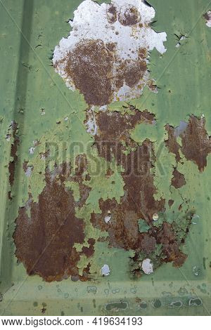 Rust And Oxidation On Iron