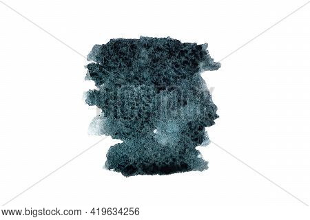 Watercolour Abstract. Paint Texture Of Watercolor Pattern Or Splash Ink Stain For Design Isolated On