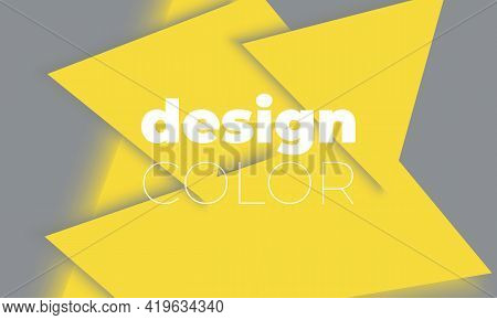 Geometric Background. Yellow And Gray Geometric Shapes. Minimal Abstract Cover Design.