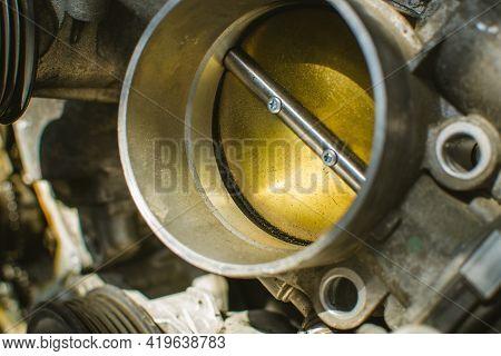 Cleaning Carburetor With Gasoline. Egine Parts/ Car