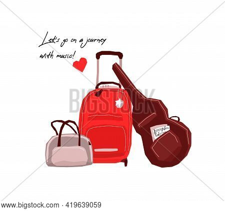 Luggage Bags With Hand Luggage And A Case