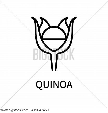 Quinoa Line Icon In Simple Style. Healthy Food. Natural Product. Vector Sign In A Simple Style Isola