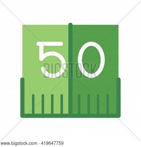 Isolated 50 Yard American Football Icon Vector Illustration