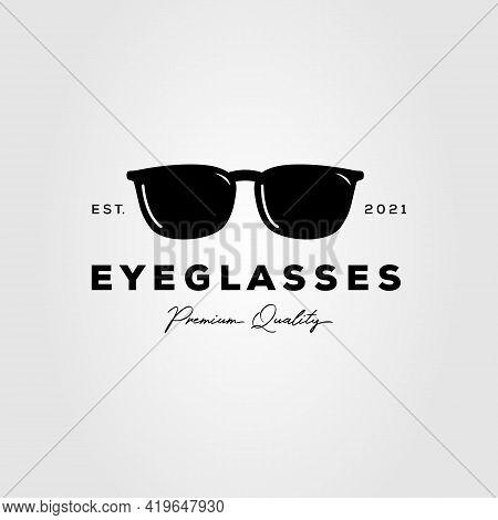 Optic Glasses Shop Isolated Logo Template Vector Illustration Design. Simple Eyeglasses, Optical Gal