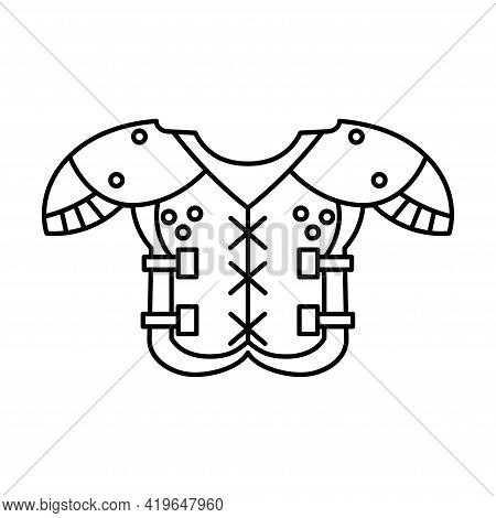 Shoulder Pad And Chest Protector. American Football Uniform - Vector
