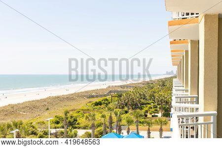 Myrtle Beach, South Carolina - Balcony View Along The Beach