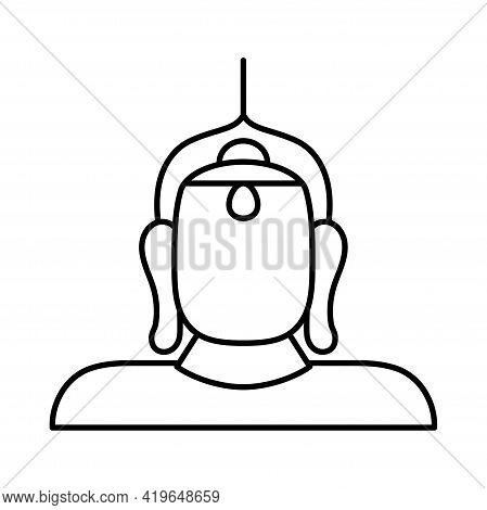 Isolated Golden Buda Religious Icon Vector Illustration
