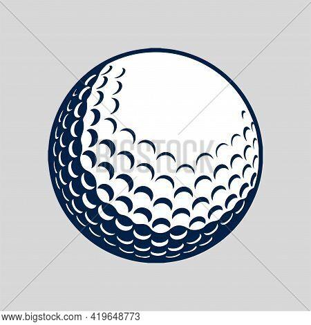 Golf Ball Vector, Silhouette Golf Ball, Icon