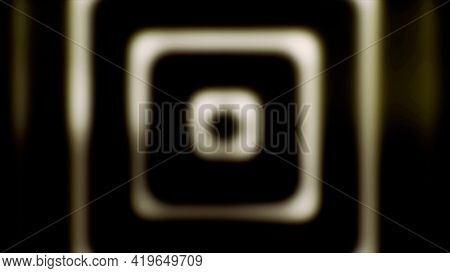 Slowly Widening Yellow Squares On Black Background, Seamless Loop. Animation. Calming Hypnotic Motio