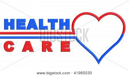 Heart With Health Care Sign
