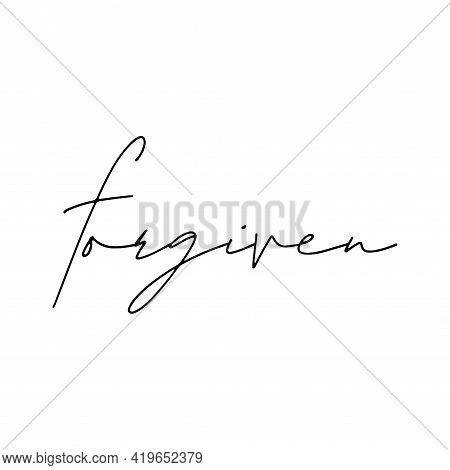 Forgiven Christian T Shirt Design Vector White Background