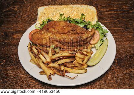 American Cuisine Dish Known As A Fish Sandwich