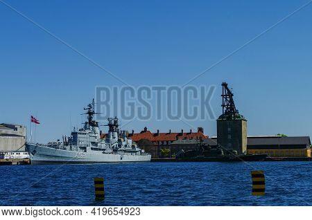 Copenhagen, Denmark -30 April 2011:  Historic War Ship Hdms Peder Skram (frigate) Of The Royal Danis